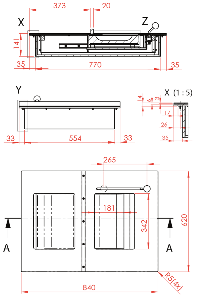 Passe-document-WURSTER-30-FB6-dimensions