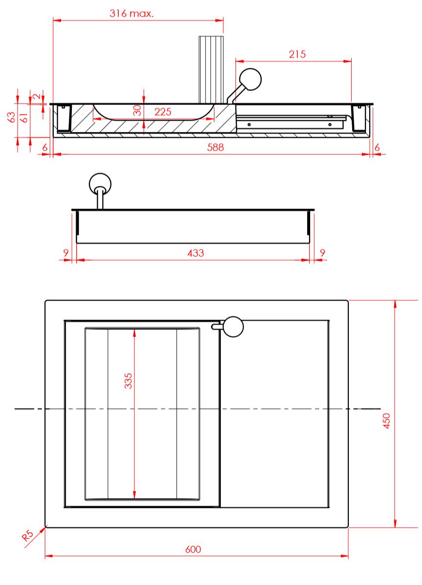Passe documents coulissants modèle 30 - Dimensions