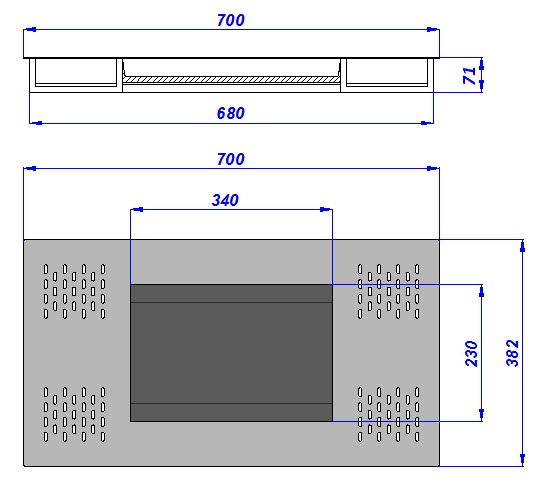 Dimensions Passe-billets WURSTER 12-C4