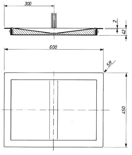 Dimensions pase-billets modèle 10