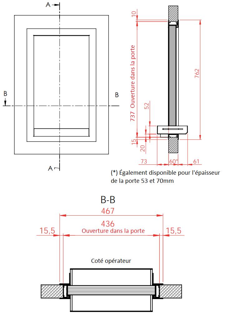 Dimensions modèle 7005