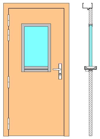 WURSTER - Vantail de porte avec modèle 7005