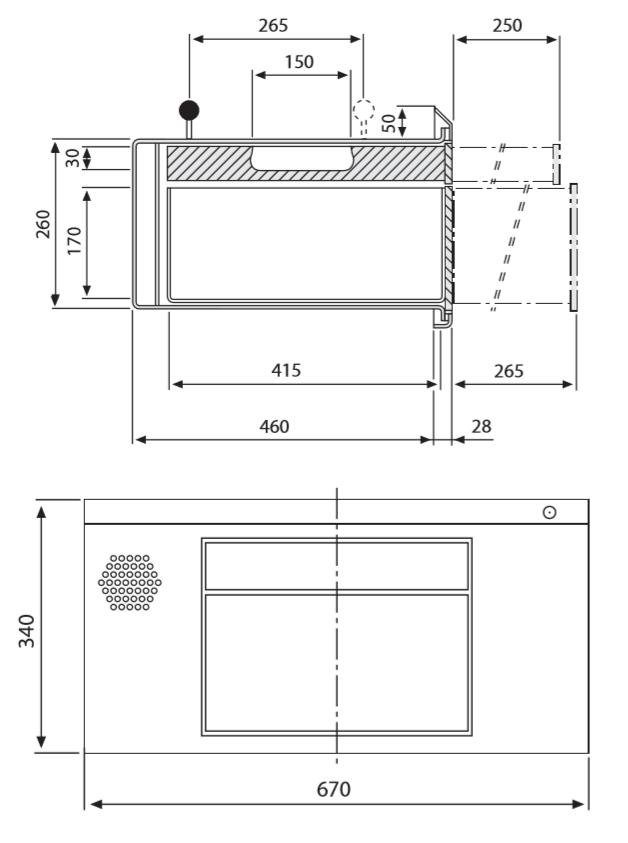 Dimensions modèle 52 Guichet de façade WURSTER modèle 52